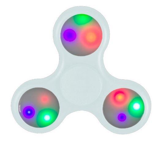 Peonza Antiestres Fidget Spinner con LED blanco
