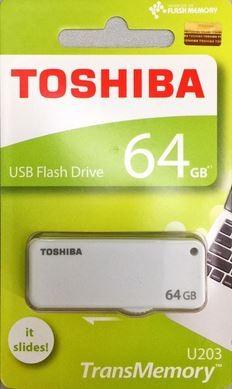 MEMORIA USB 64GB TOSHIBA U203 BLANCO