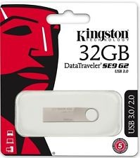PENDRIVE 32GB USB3.0 KINGSTON DT SE9 G2 PLATA