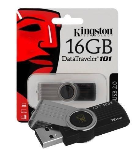 PENDRIVE 16GB USB2.0 KINGSTON DT 101 G2 NEGRO