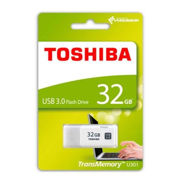 PENDRIVE TOSHIBA THN-U301W0320 - 32GB - USB 3.0 - BLANCO