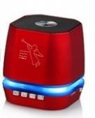 ALTAVOZ BLUETOOTH ALTA CALIDAD PORTATIL ROJO T2306A,RADIO FM MP3,ETC..