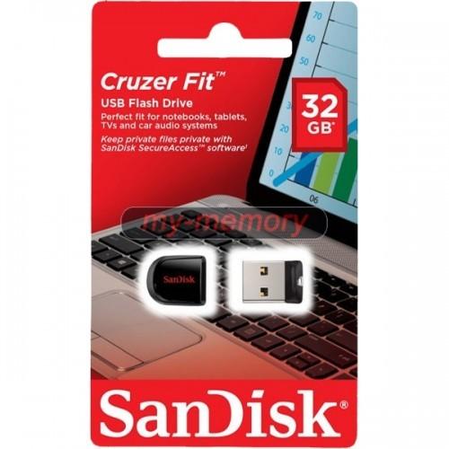 PENDRIVE SANDISK CRUZER FIT 32GB 2.0 NANO NEGRO