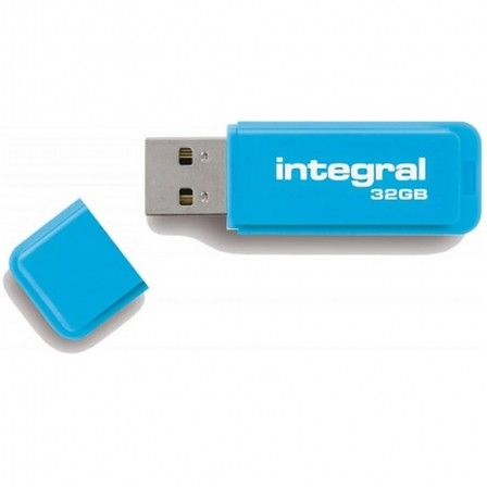 PENDRIVE INTEGRAL NEON  32GB  2.0  AZUL