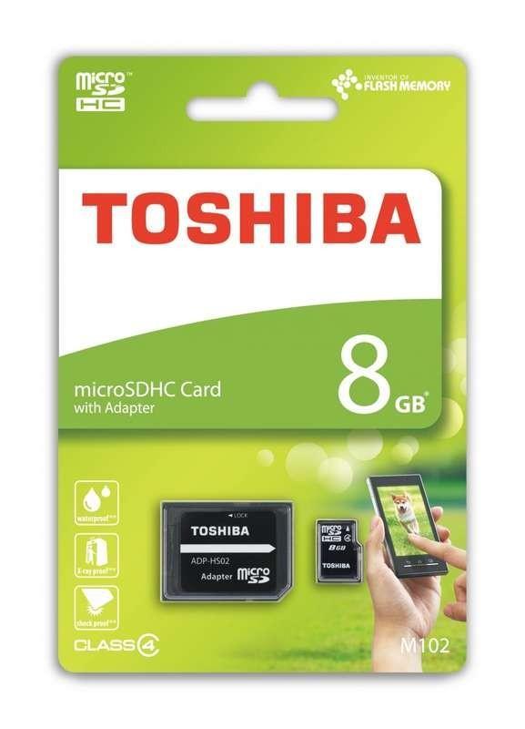 Toshiba Tarjeta Micro SDHC 8GB  clase 4